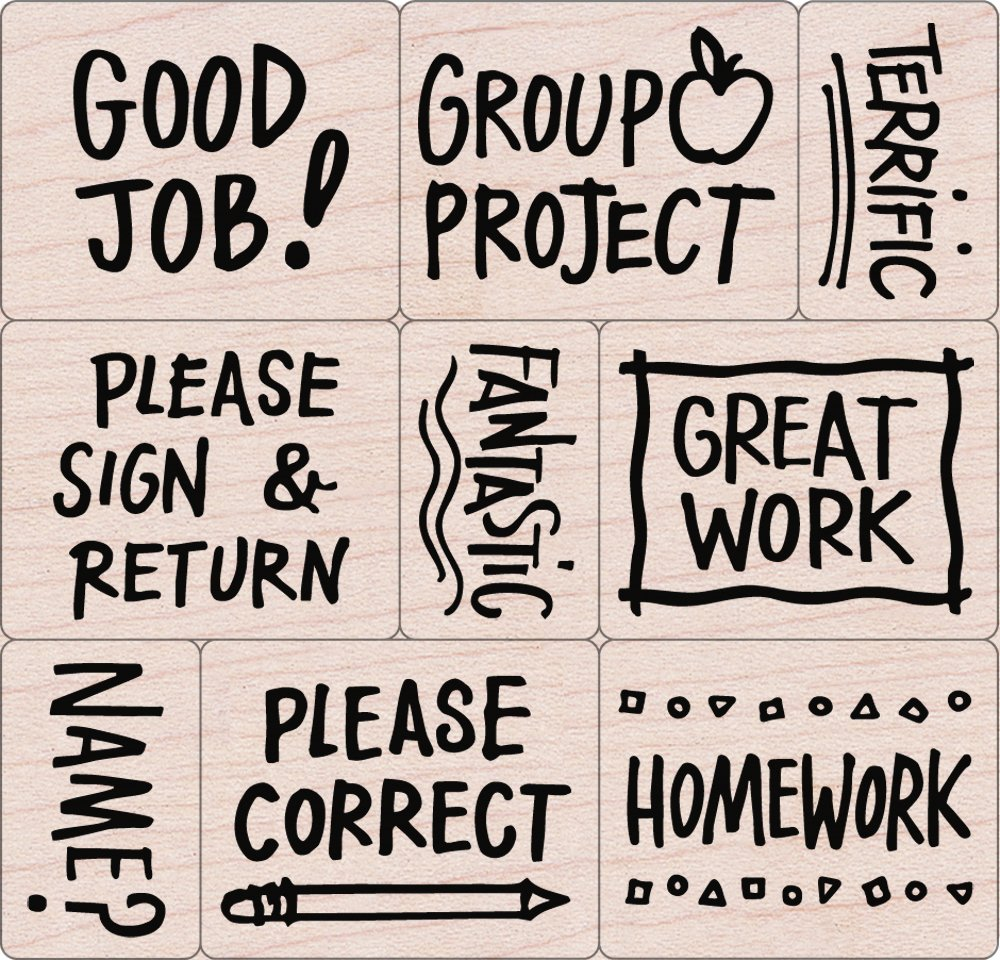 Hero Arts LL251 Woodblock Stamps, Notes From the Teacher