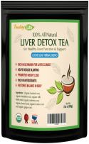 Organic Dandelion Root Tea with Milk Thistle, Burdock Root, Licorice Root, Barberry Root, Fennel Seeds & Ginger Root for Liver Detox Cleanse and Liver Rescue - 85 GMS | Made in USA