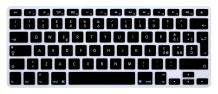 HRH Italian Silicone Keyboard Cover Skin for MacBook Air 13,MacBook Pro 13/15/17 (with or w/Out Retina Display, 2015 or Older Version)&Older iMac EU Layout Keyboard Protector-Black