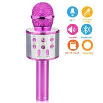 Birthday Gifts for 4-12 Year Old Girls, Touber Wireless Karaoke Microphone Toys for 6-12 Year Old Girls Kids Birthday Party Gift for Girls Age 4-12