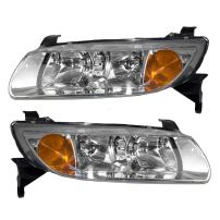 Aftermarket Replacement Driver and Passenger Set Headlights Compatible with 2000 2001 2002 L-Series 90583594 90583595