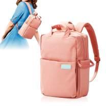 ELECOM Offtoco 2WAY Laptop Sleeve Backpack, Handbag, Limited Color Model, Multiple Inner Pockets, Water Repellent Finish, Support Up to 9.7 inch Tablet/Pink/BM-OF05PN