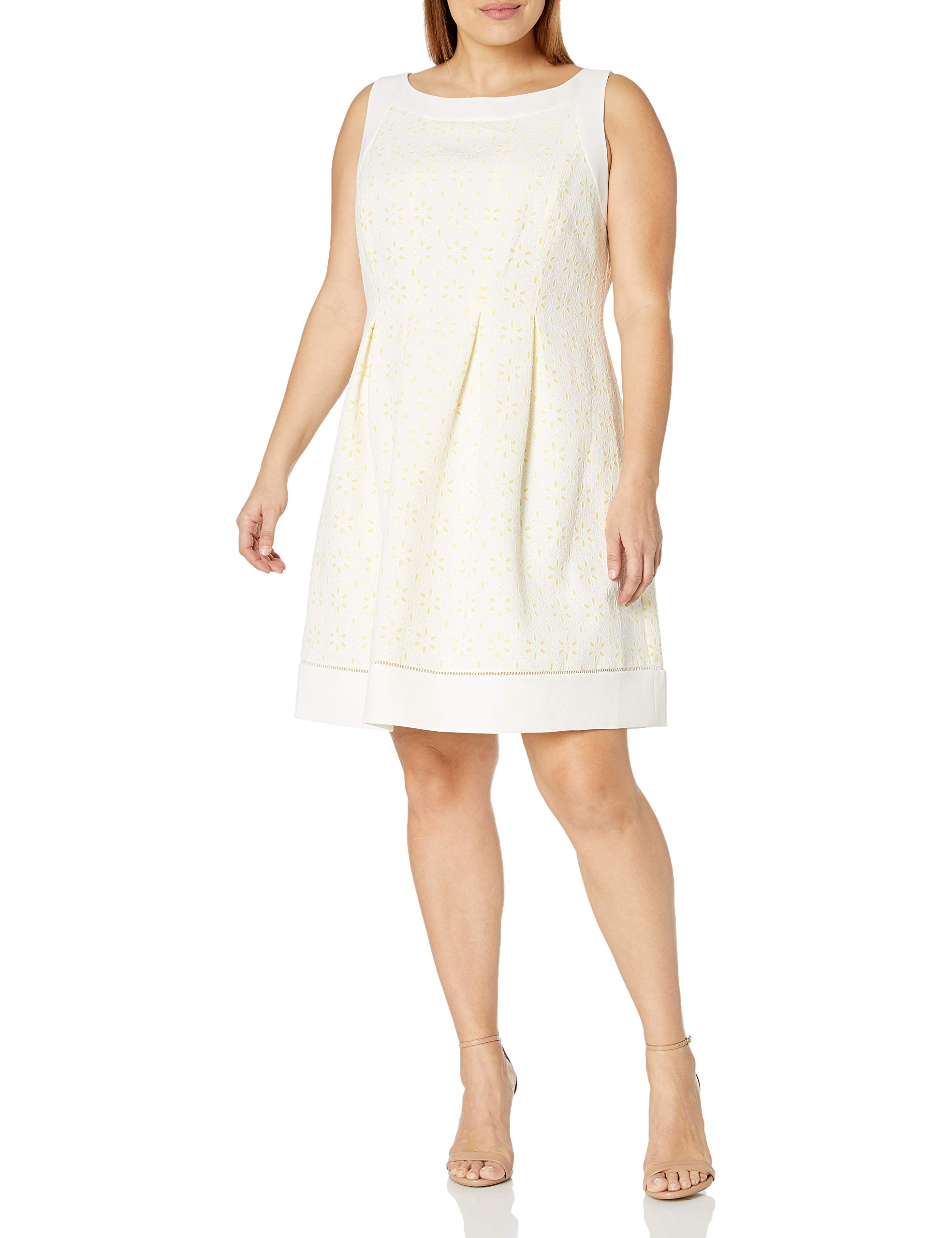 Jessica Howard Women's Plus Size Framed Fit and Flare Dress