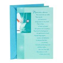 Hallmark Nursing School Graduation Card (Nurses Make a Difference)