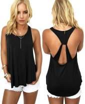 AMiERY Women's Casual Camo Tops Sleeveless T Shirts Tank Tops