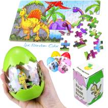 Dinosaur Egg Jigsaw Puzzle Party Favors Toys for Boys & Girls Number Puzzle Animal Count to 100 Game Easter Eggs Plastic Dino Toy (1-Pack)