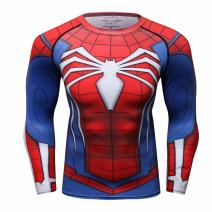 Red Plume Men's Red Spider T-Shirt Sport Fitness Party Long Sleeve Shirt