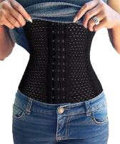 FUT Women's Waist Trainer Corset for Weight Loss Steel Boned Tummy Control Body Shaper