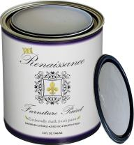 Retique It Chalk Finish Paint by Renaissance - Non Toxic, Eco-Friendly Chalk Furniture & Cabinet Paint - 32 oz (Quart), Stone Castle