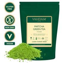 VAHDAM, Matcha Green Tea Powder SUPERFOOD (50 Servings) 100% Pure Authentic Japanese Matcha Powder   Classic Culinary Grade Green Tea Matcha 🍵 137x Anti-OXIDANTS   Matcha Latte Mix & Smoothies