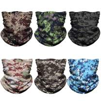 NTBOKW Face Mask Bandana for Sun Dust Wind Seamless Headband for Men Women Neck Gaiter Rave Face Mask for Festival Party Riding Motorcycle Riding Biker Cycling Fishing Tube Mask 6 Pack