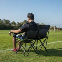QUICKPLAY PRO Portable Folding Bench Range | Available in 2 to 9 Seats | Fast Set-Up Heavy Duty Bench