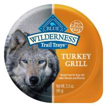 Blue Buffalo Wilderness Trail Trays High Protein Grain Free Natural Adult Wet Dog Food Cups, 3.5-oz (Pack of 12)