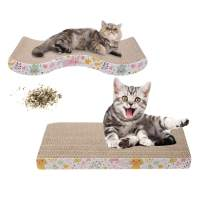 MXCELL Cat Scratcher Cardboard for Little Cats and Dogs with Corrugated Scratching Pad and Free Catnip