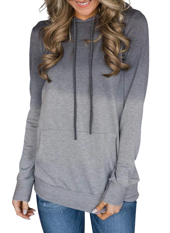 ZKESS Womens Casual Full Zip Up Hooded Lightweight Cardigans Sweatshirts Outwear s-XXL