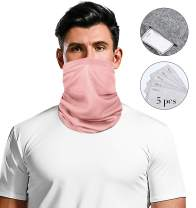 Arvilhill Unisex Breathable Bandanas Replacement Face Mask for Outdoor Protection