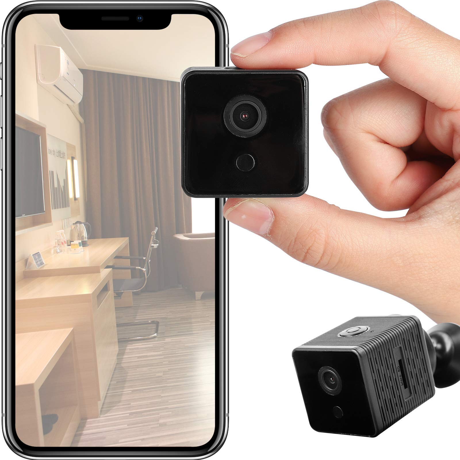 ATONGMU 1080P HD Mini WiFi Camera Low-Power Consumption Night Vision, Motion Detection, Live Streaming,Home Security Wireless Camera, Nanny Cam M11_01