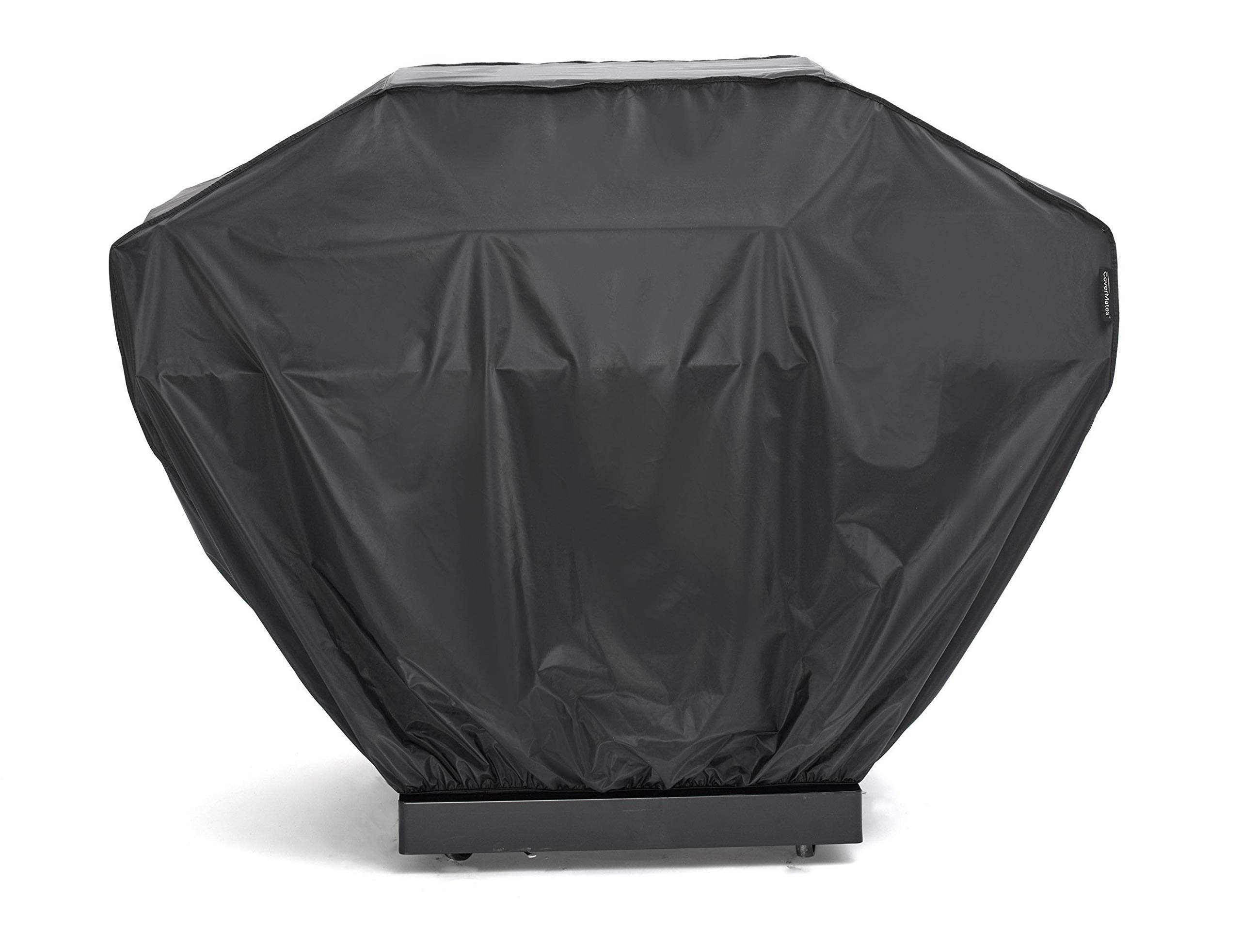 Covermates – Grill Cover – 92W x 30D x 46H – Classic – 12 Gauge Commercial Vinyl – Elastic Hem for Secure Fit – Polyester Lining – 2YR Warranty – Weather Resistant - Black