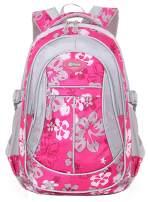 JiaYou Girl Flower Printed Primary Junior High University School Bag Bookbag Backpack(1# Rose,24 L)
