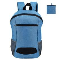CALACH Lightweight Sport Backpack Packable Hiking Daypack Foldable Small Travel Camping Bicycle Canvas Bag for Women Men (Blue)
