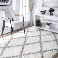 nuLOOM Trellis Cozy Soft & Plush Shag Rug, 4' x 6', White