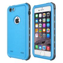 iPhone 5 5S SE Waterproof Case, 【2016】 Shockproof Dropproof Dirtproof Rain Snow Proof Full Body Protective Cover IP68 Certified Underwater Case Built-in Screen Protector for iPhone 5S 5 SE (Blue)