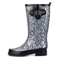 K KomForme Women Rain Boots with Non-Slip Sole, Waterproof and Fashion Patterns