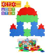 ETI Toys, STEM Learning, 300 Piece PuzzlD Tiles. Build Rocket, Castle, House, Endless Designs. 100 Percent Safe, Fun, Creative Skills Development. Gift, Toy for 3, 4, 5 Year Old Boys and Girls.