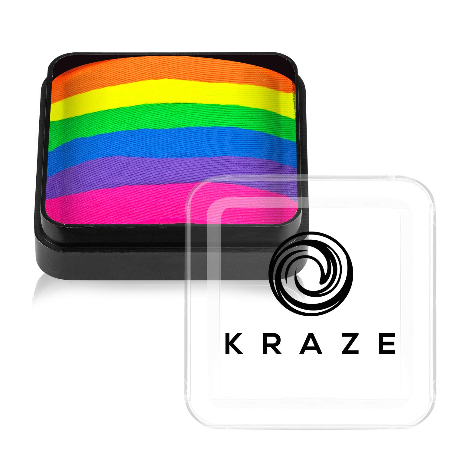 Kraze FX Dome Cake - Neon Rave (25 gm), Professional Face and Body Painting Split Cake, Hypoallergenic, Safe & Non-Toxic, Child Friendly, Ideal for Fairs, Carnivals, Party & Halloween