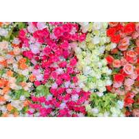 Baocicco 8x6.5ft Paper Flower Backdrop Wedding Rose Flower Wall Photo Backdrop Romantic Floral Decor Photography Background Wedding Birthday Valentine's Day Lover Couple Portrait Studio Prop