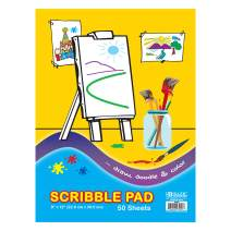 """BAZIC 50 Sheets 9"""" X 12"""" Scribble Pad, Doodle Paper Drawing Pads Papers, Ideal for Kids Adults Coloring, Gift for Girls and Boys"""