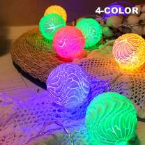 Battery Powered Fairy String Lights-Crack Ball [White Color] Type 10LED (4color) String Lights for Christmas, Home, Garden, Wedding, Party, Room, Holiday Decor, Centerpiece, Xmas Tree Decorations