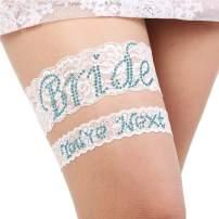 Bridal Garter Large - Garters for Bride - Garter Blue Set - Lace bridal Garter Set - Plus Size Garter Wedding