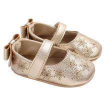lakiolins Infant Girl Snowflake Mary Jane Flats Princess Baby Dress Shoe Slip-on Crib Shoe