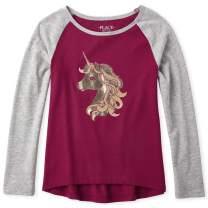 The Children's Place Girls' Big Graphic Long Sleeve Raglan T-Shirt