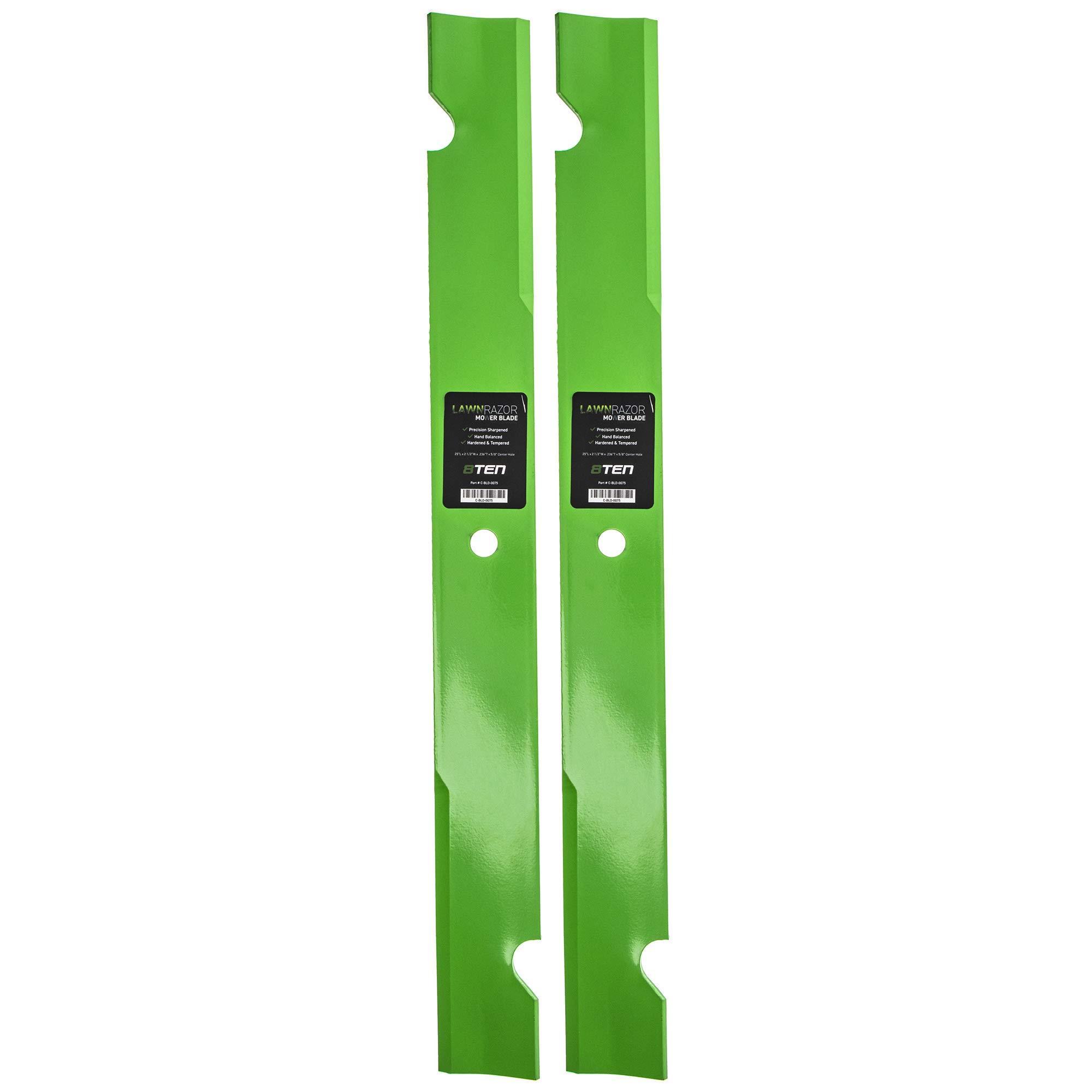 8TEN LawnRAZOR Mower Blade 48 inch Deck for Ferris Bobcat 5102227 574481401 112111-04 2 Pack (Medium Lift)