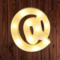 LED Marquee Number Lights Sign Light Up Marquee Letter Lights Sign for Night Light Wedding Birthday Party Battery Powered Christmas Lamp Home Bar Decoration @