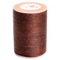 FANDOL Waxed Polyester Cord Wax-Coated Strings Waterproof Round Wax Coated Thread for Braided Bracelets DIY Accessories or Leather Sewing (Coffee)