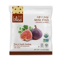 Organic Turkish Figs Dried Fruit Snacks, Sweet, Soft & Juicy Sun-Dried Figs – Healthy Snacks for On the Go – Organic Figs Treats are Non-GMO, Gluten-Free, Vegan Fig Snacks (6 Mini Packs – 1.76 oz. ea)