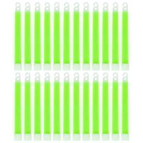 """MediTac Green Glow Stick - Bright 6"""" Snap Sticks with 12 Hour Duration (24 Pack)"""