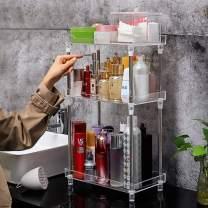 Bathroom Organizer Countertop, 3-Tire Skincare Organizers Vanity Tray Corner Shelf for Makeup Cosmetic Perfume, Multi-Functional Acrylic Organizer in Vanity Dresser Bathroom Kitchen Living Room etc.