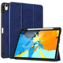 "MoKo Case Fit iPad Pro 11"" 2018 with Pencil Holder [Support Magnetically Attach Charging/Pairing Feature] - Slim Lightweight Smart Shell Stand Cover Case with Auto Wake/Sleep - Indigo"