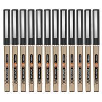 BAOKE Roller Ball Pens, Liquid Gel Needlepoint Pens 0.5mm, Writing Signature for Office, Pack of 12Pcs BK111 (black)
