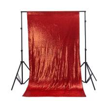 TRLYC 20FTx10FT Sparkly Red Sequins Backdrop Curtain