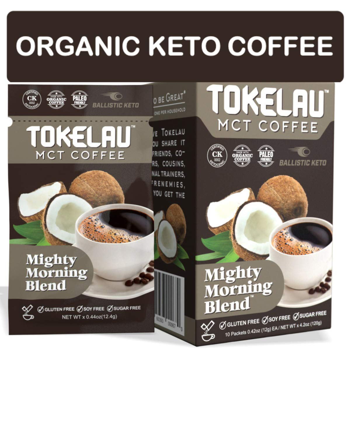 Tokelau Keto Coffee Packets with C8 MCT Oil Powder. Organic Keto Instant Coffee to Burn Fat for Fuel and be Amazed at How Fast It Works. Keto Coffee in Seconds to Fuel Your Day