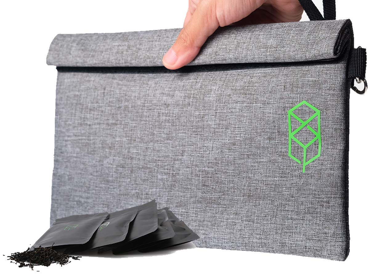"""Smell Proof Bag - 11"""" x 6"""" Smellproof Odorless Stash Storage Pouch & Case - Eliminate Odor, Stink, and Smelly Scent in a Carbon Lined Airtight Storage Sack"""
