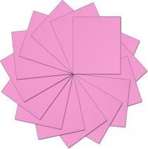 "Threadart Pink 10"" x 12"" Heat Transfer Vinyl Precut Sheets   Solid Colors   15 Sheets   For Silhouette Cameo Cricut  HTV"