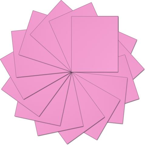"Threadart Pink 10"" x 12"" Heat Transfer Vinyl Precut Sheets | Solid Colors | 15 Sheets | For Silhouette Cameo Cricut |HTV"