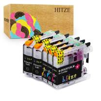 HITZE Compatible Ink Cartridge Replacement for Brother LC203 LC201 LC203XL for Brother MFC J480DW J680DW J885DW J4420DW J485DW J460DW J880DW J4620DW (2 Black, 1 Cyan, 1 Magenta, 1 Yellow, High Yield)
