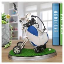 10L0L Golf Gifts Pen Holder with Pens Bag Holder Golf Decorations Office Desk Gifts,Golf Souvenirs Novelty Presents